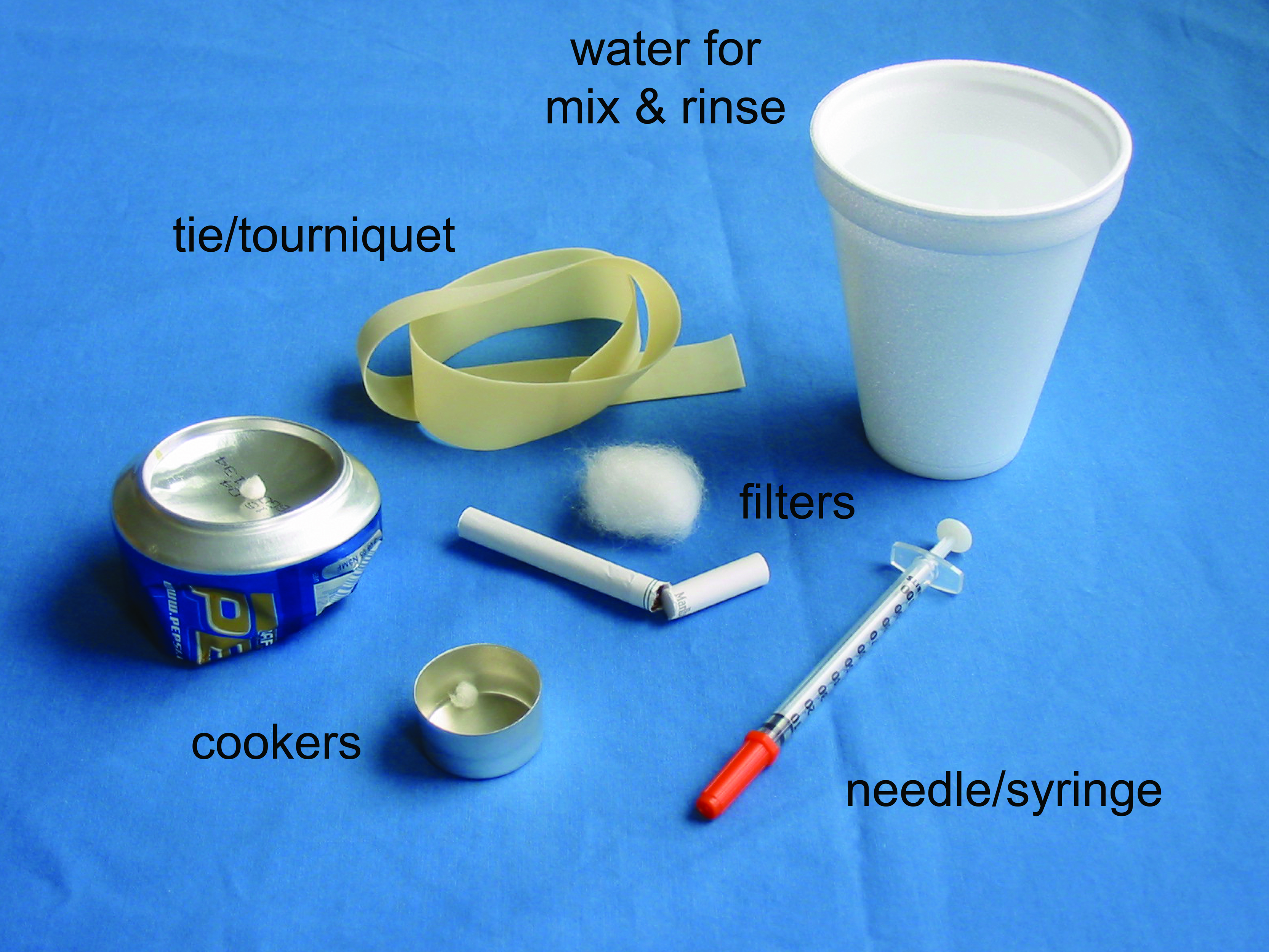 Equipment used by injecting drug users.