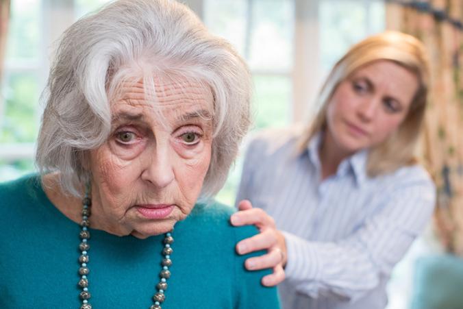 Older adult looking confused